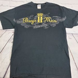 Vtg Boyz To Men Las Vagas Concert Graphic Black Sh